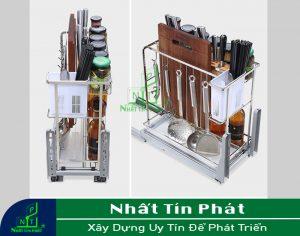 PHỤ KIỆN TỦ BẾP: Kệ gia vị Higold 306031 sử dụng chất liệu inox 304 cao cấp, chống rỉ sét tốt